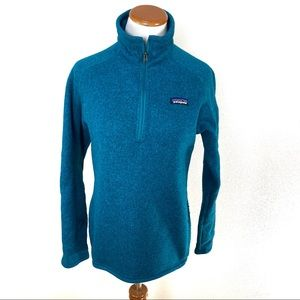 Patagonia Better Sweater 1/4 Zip Jacket Teal Blue